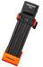 Trelock FS 200 TWO.GO L Cykellås 100 cm orange